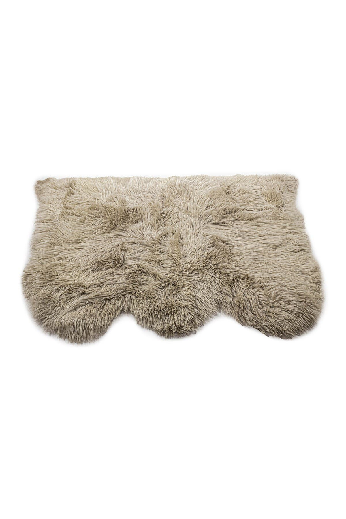Image of Natural New Zealand Triple Sheepskin Throw - 3ft X 5ft - Taupe