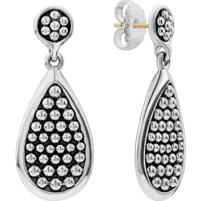 Lagos Bold Caviar Medium Flat Drop Earrings