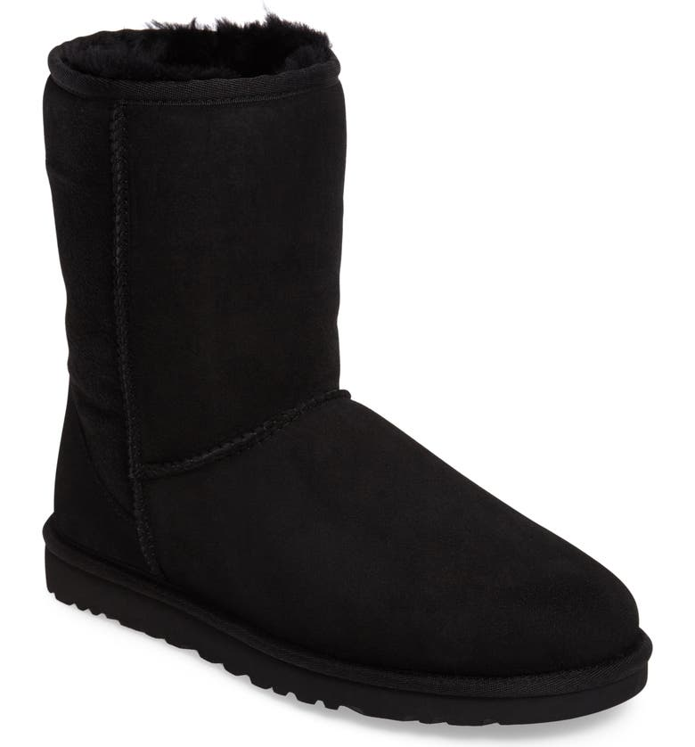 UGG<SUP>®</SUP> Classic Short Boot, Main, color, BLACK