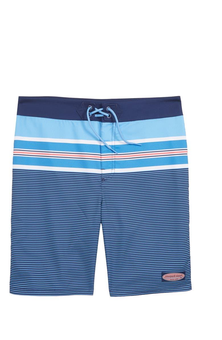 VINEYARD VINES Birchcliff Stripe Board Shorts, Main, color, 484