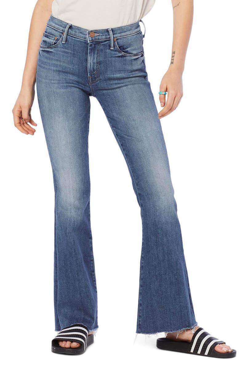 MOTHER Frayed Flare Jeans, Main, color, HOP ON HOP OFF