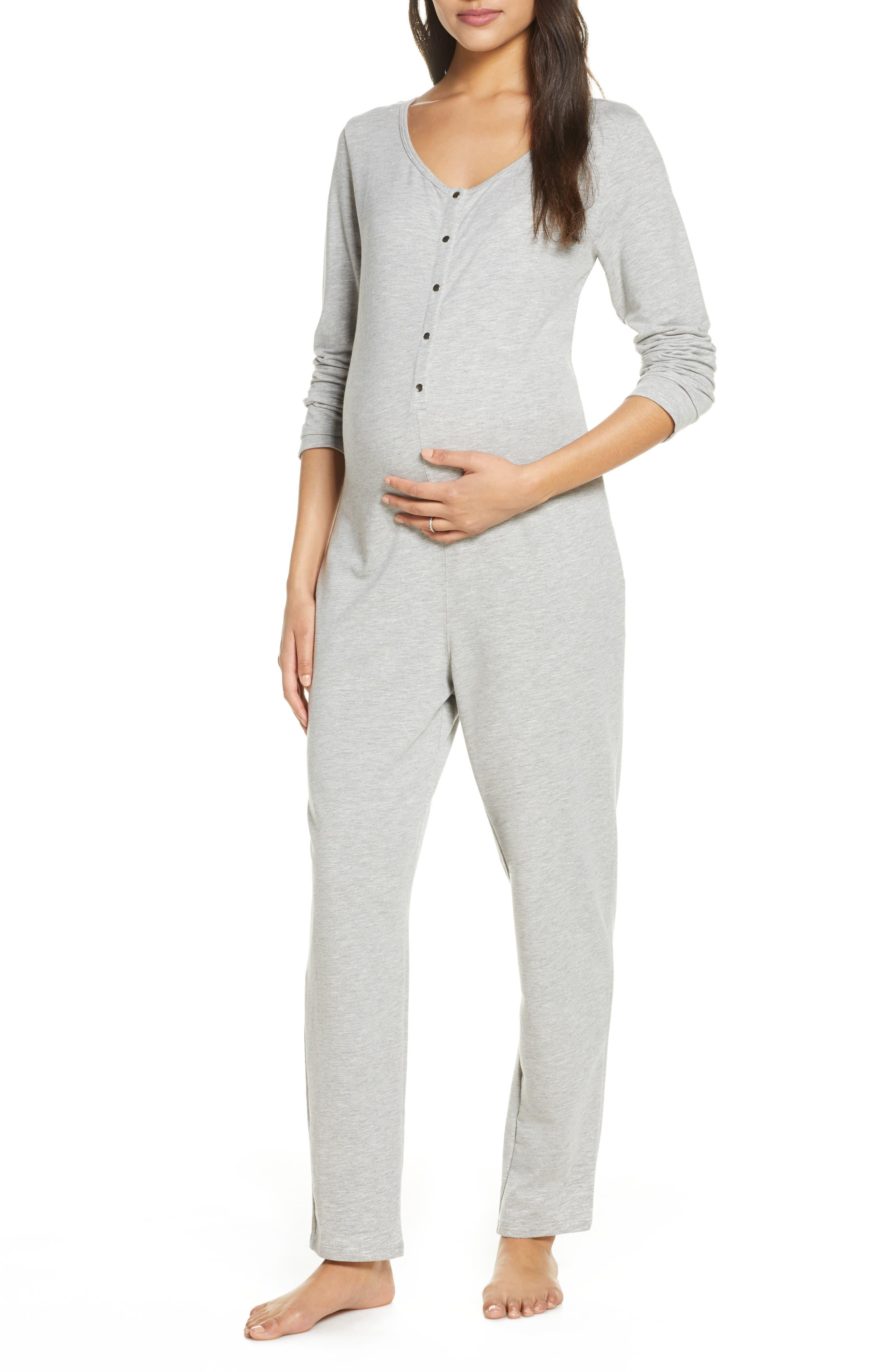 Maternity/nursing Henley Jumpsuit