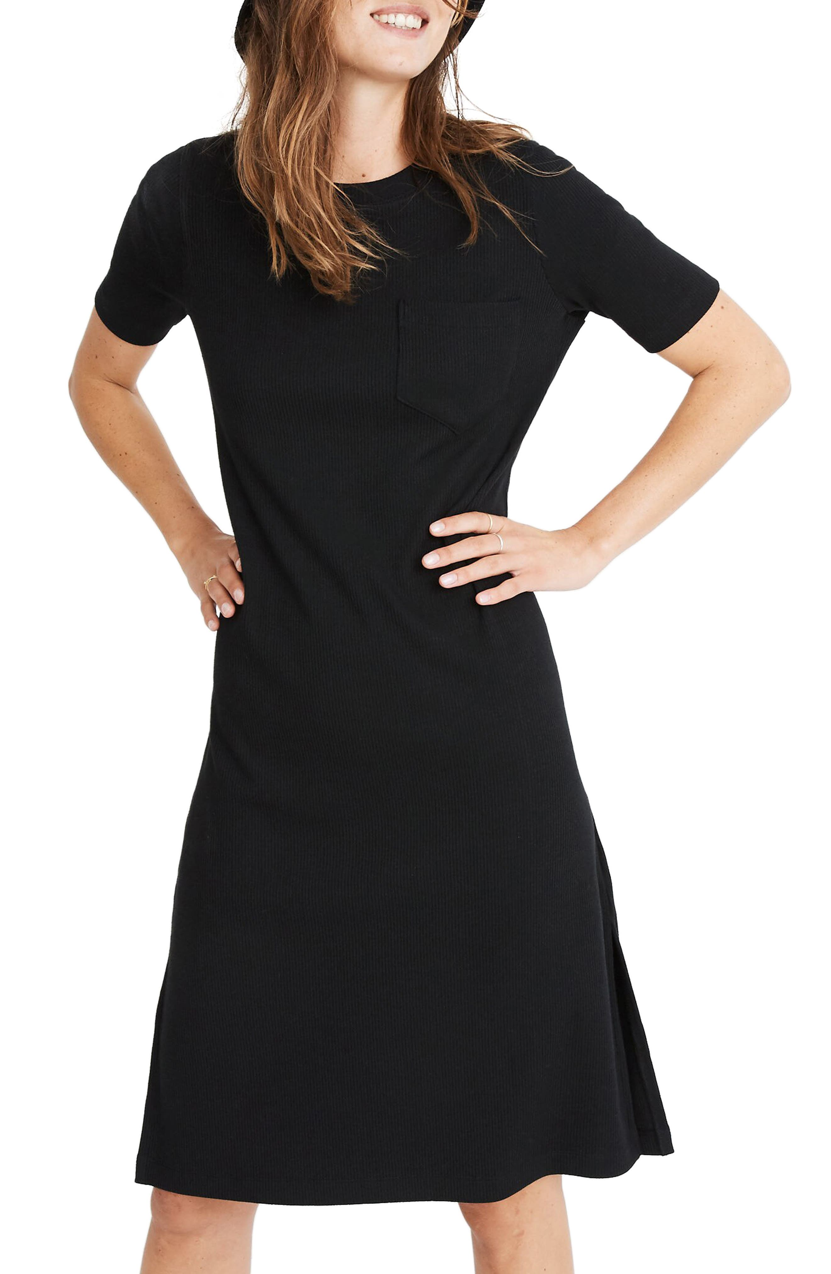 Image of Madewell Ribbed Pocket T-Shirt Dress