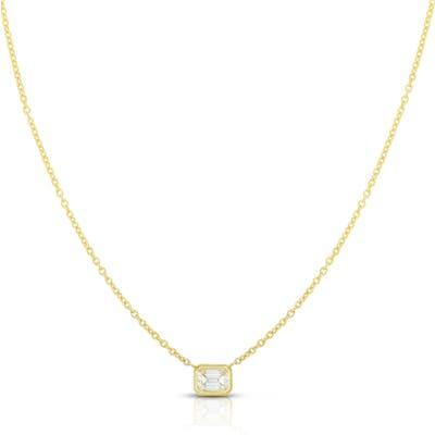 Roberto Coin Emerald Cut Diamond Pendant Necklace