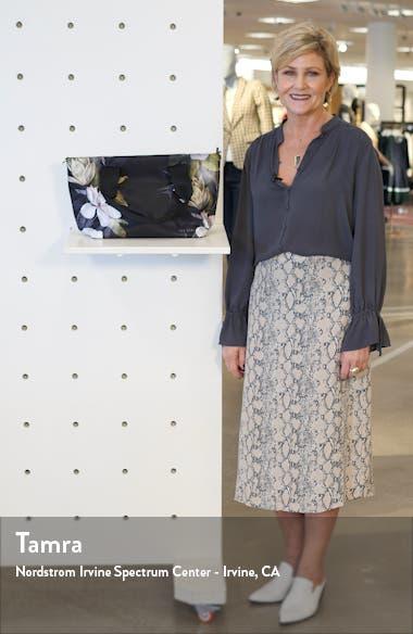 Small Terresa Opal Floral Print Nylon Tote, sales video thumbnail