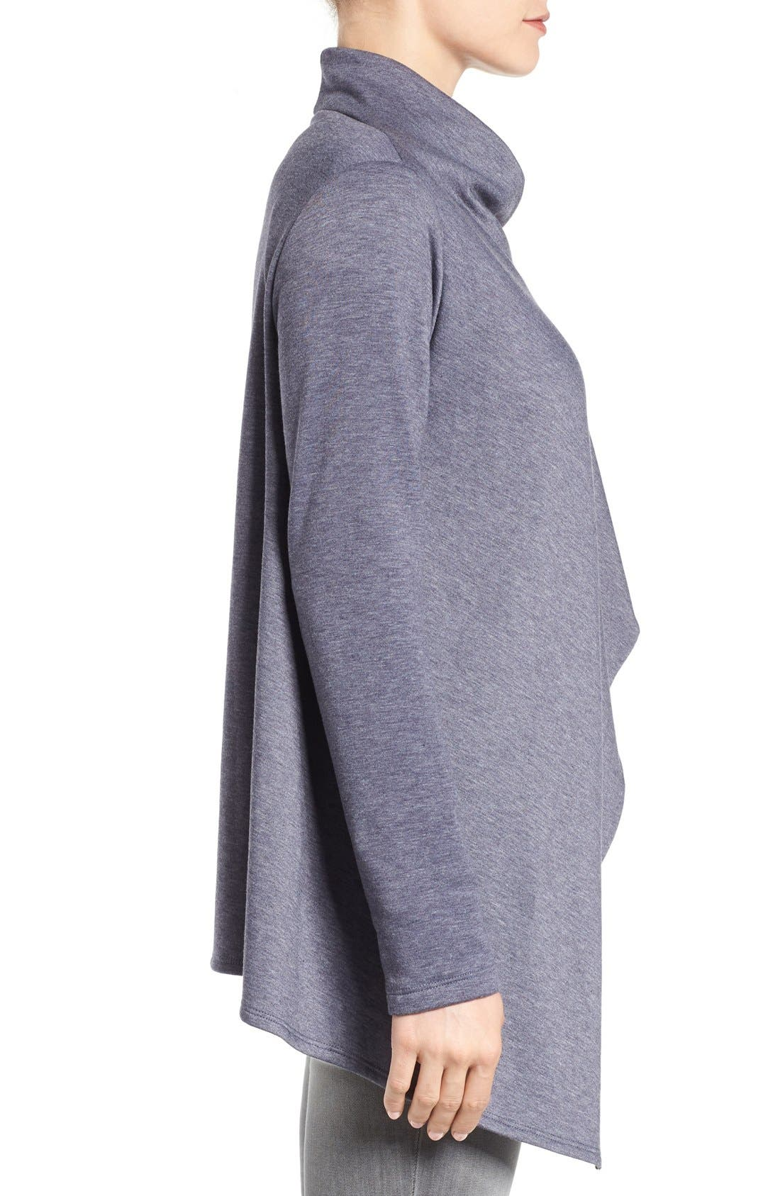 ,                             One-Button Fleece Wrap Cardigan,                             Alternate thumbnail 135, color,                             424