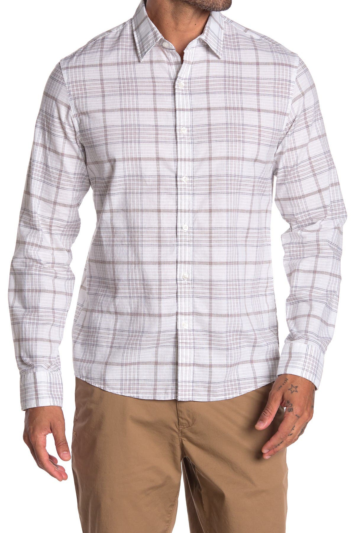 Image of Michael Kors Slim Fit Plaid Shirt