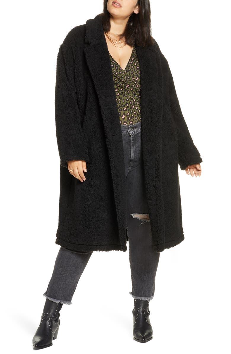 BP. Faux Shearling Jacket, Main, color, 001