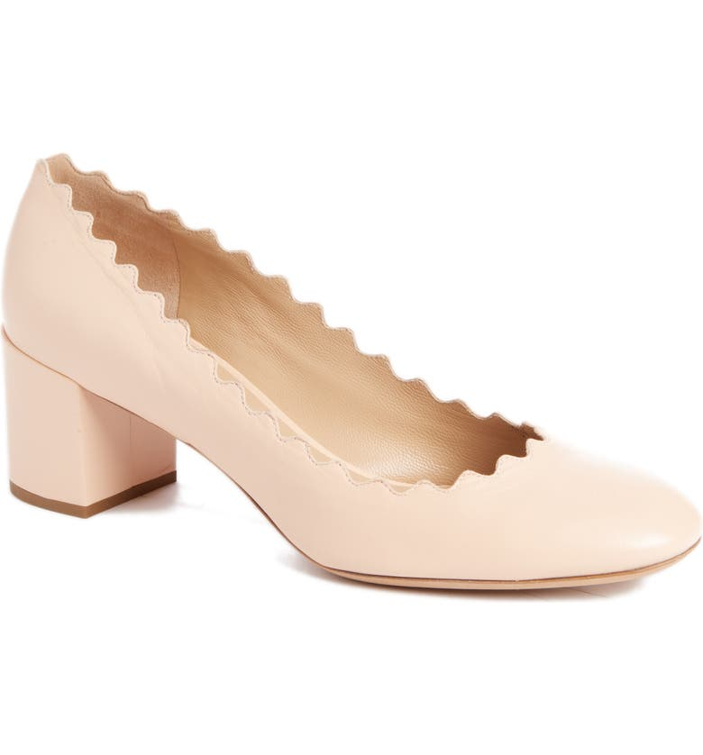 CHLOÉ Lauren Scalloped Pump, Main, color, 250