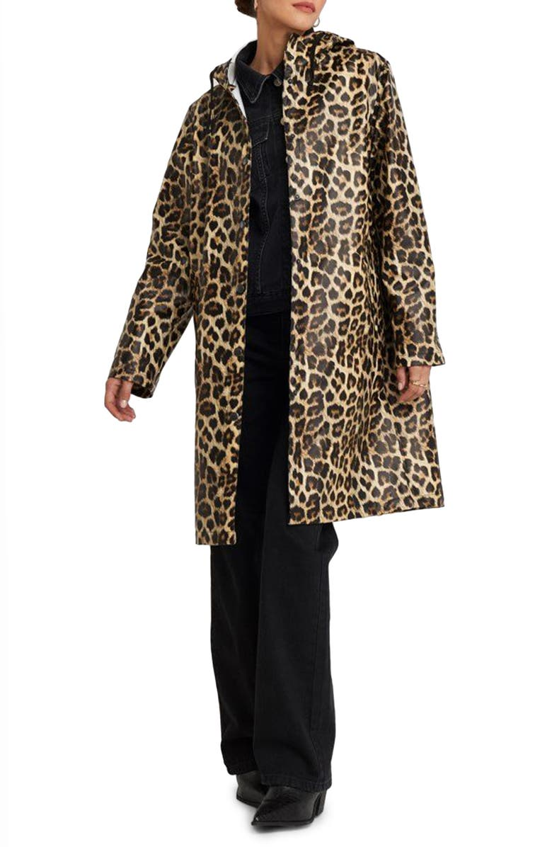 NA-KD Leopard Print Raincoat, Main, color, LEOPARD