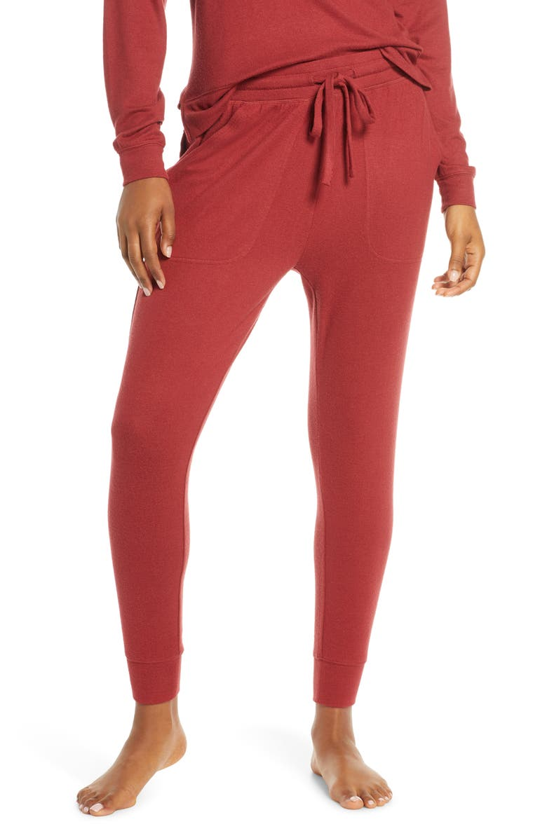 BP. Cozy Joggers, Main, color, RED ROSEWOOD