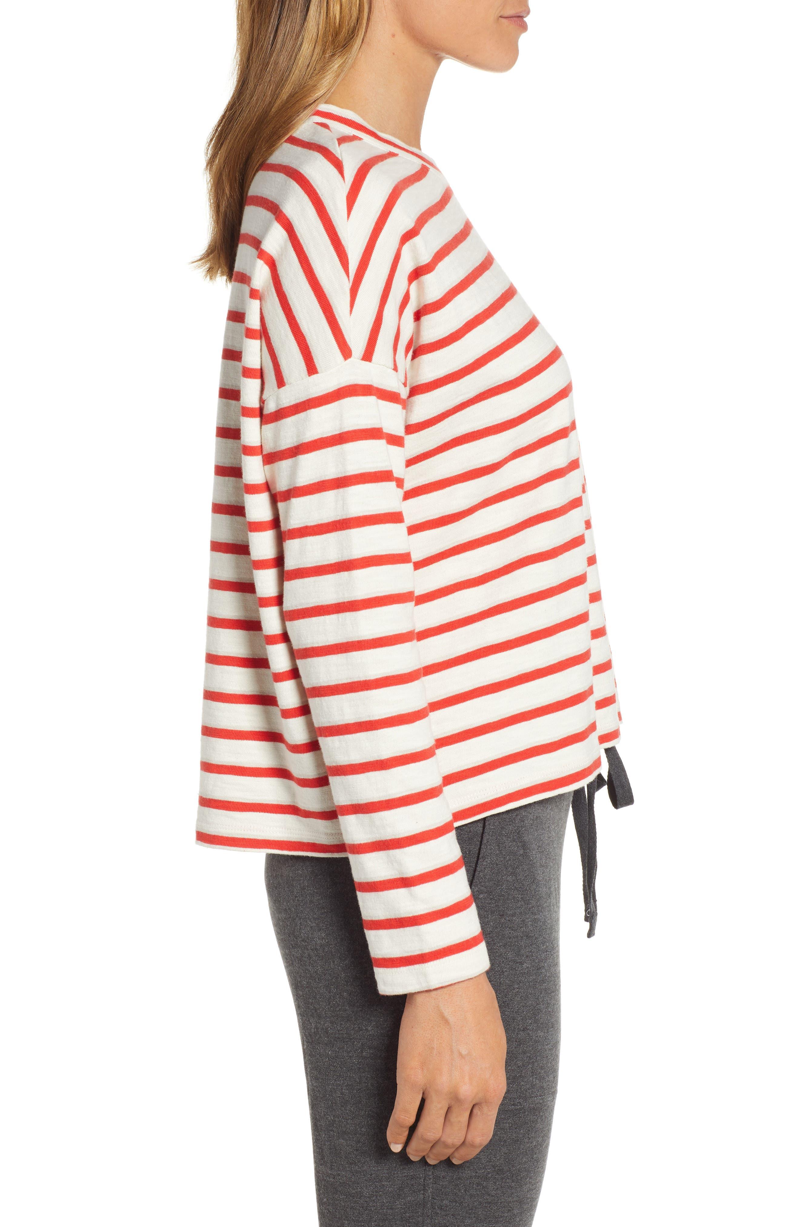 ,                             Bonnie Stripe Cotton Top,                             Alternate thumbnail 3, color,                             600