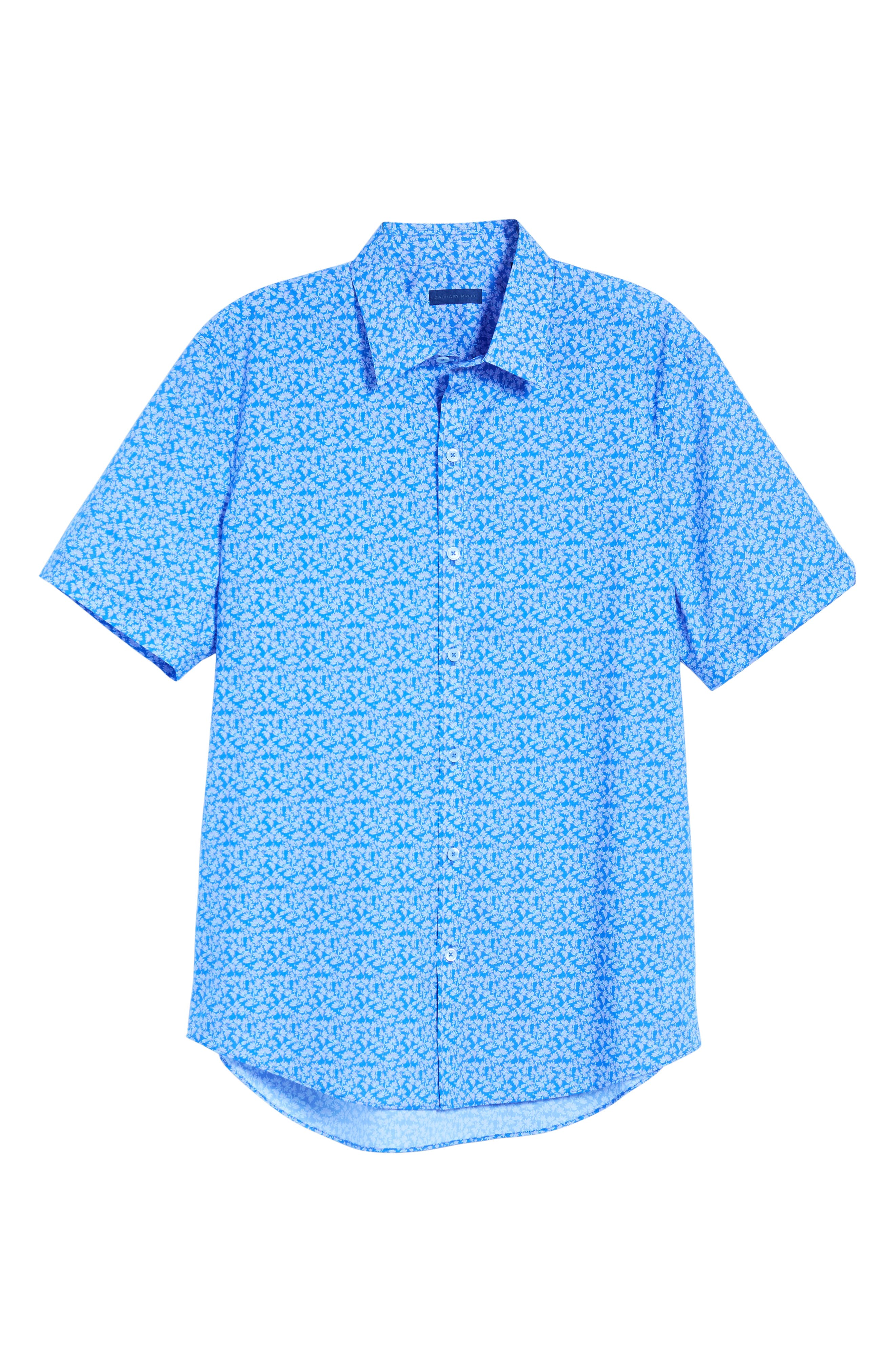 ,                             Wadley Regular Fit Print Sport Shirt,                             Alternate thumbnail 6, color,                             500
