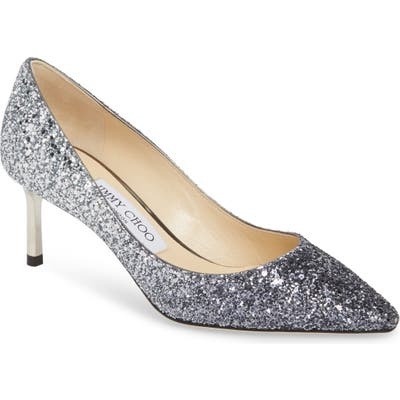 Jimmy Choo Romy Glitter Pump - Blue