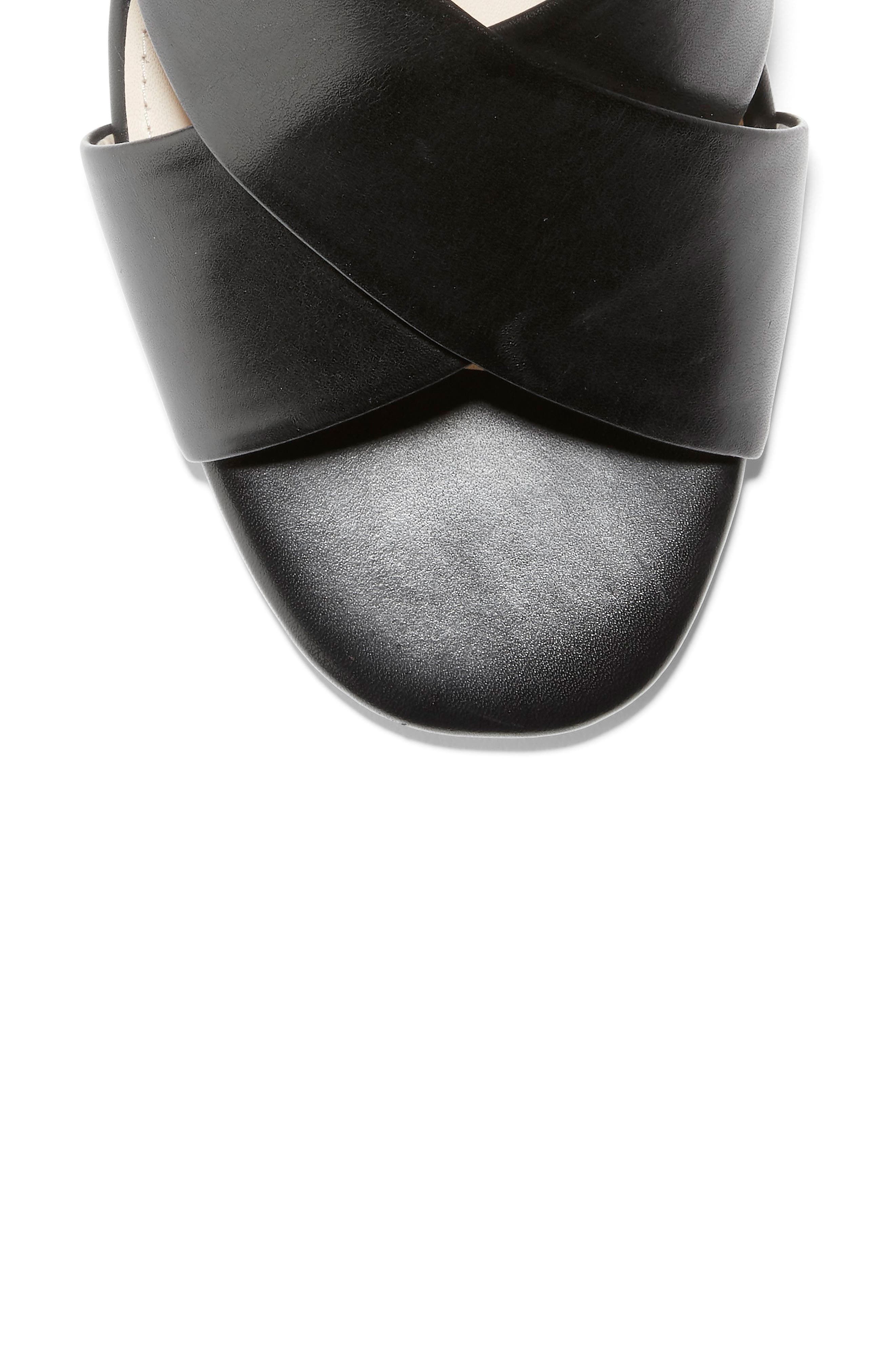 ,                             Adley Wedge Sandal,                             Alternate thumbnail 7, color,                             BLACK LEATHER