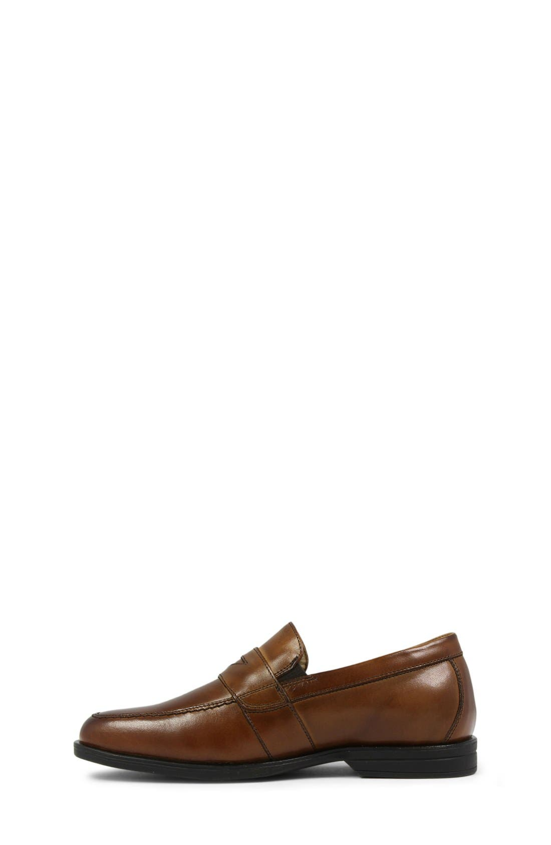 ,                             'Reveal' Penny Loafer,                             Alternate thumbnail 5, color,                             COGNAC LEATHER