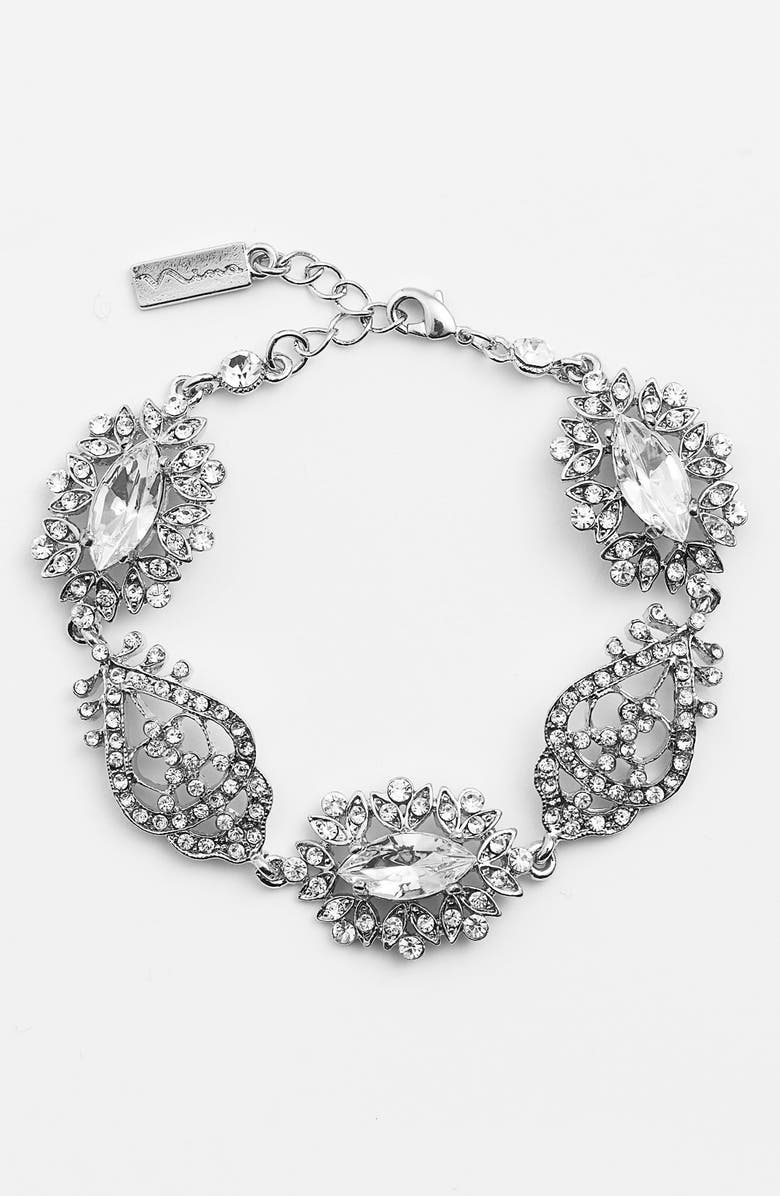 NINA 'Chantal' Pavé Crystal Bracelet, Main, color, 040