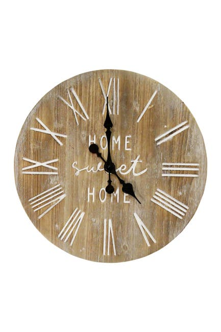 """Image of Stratton Home 23"""" Wood Dale Wall Clock"""