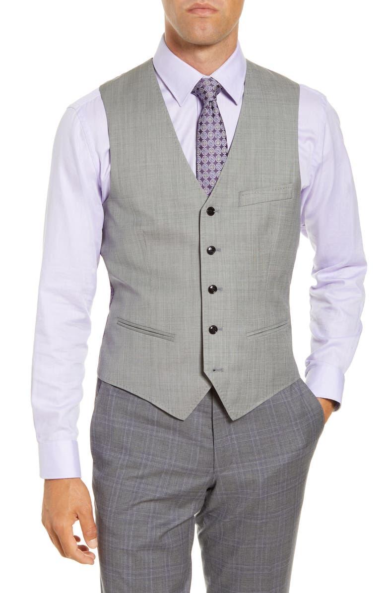 TED BAKER LONDON Troy Solid Wool Vest, Main, color, 050