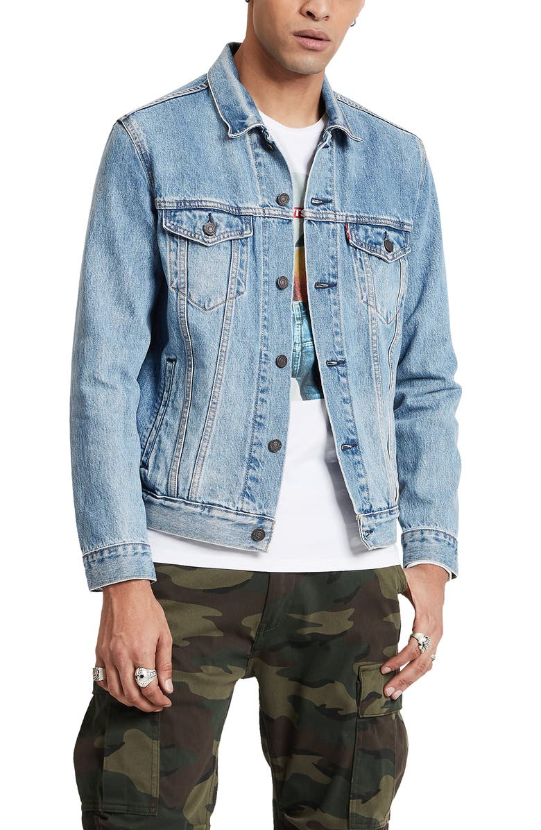 LEVI'S<SUP>®</SUP> The Trucker Embroidered Back Denim Jacket, Main, color, MULTI - COLOR 2-HORSE