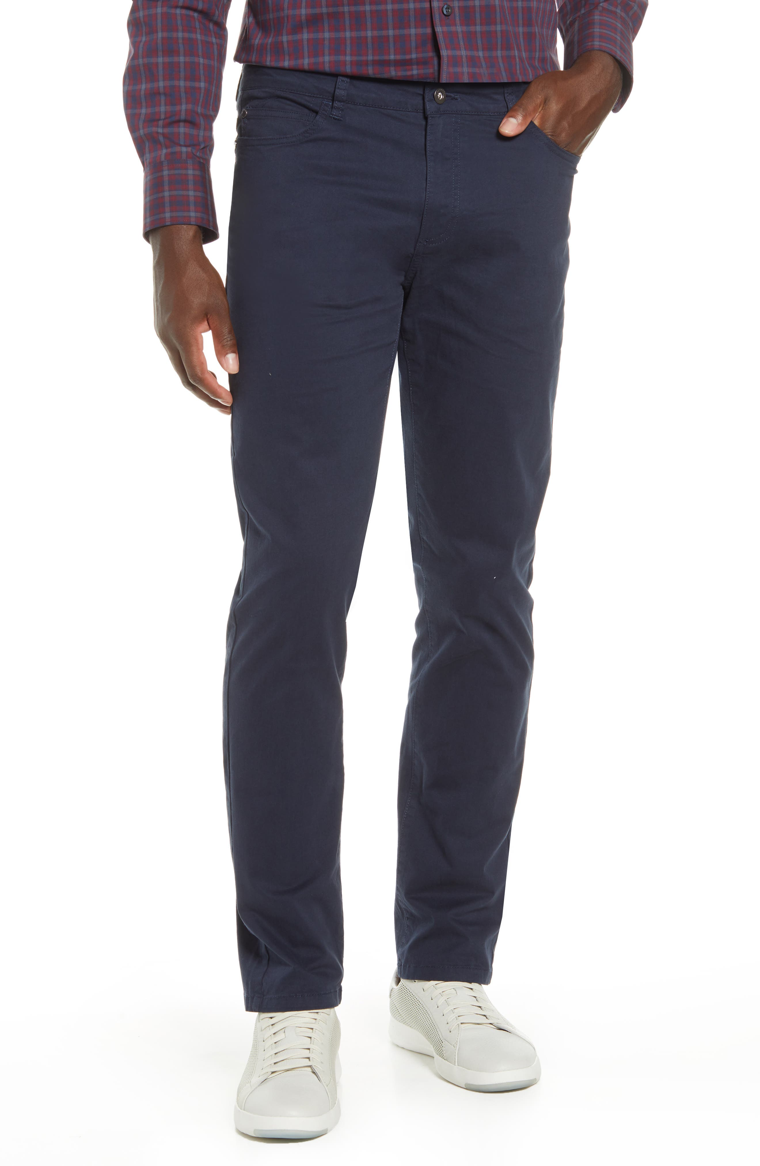 Garment-washed stretch cotton means a flexible feel in versatile pants with casual appeal. Style Name: Cutter & Buck Voyager Stretch Cotton Five-Pocket Pants. Style Number: 6054936. Available in stores.