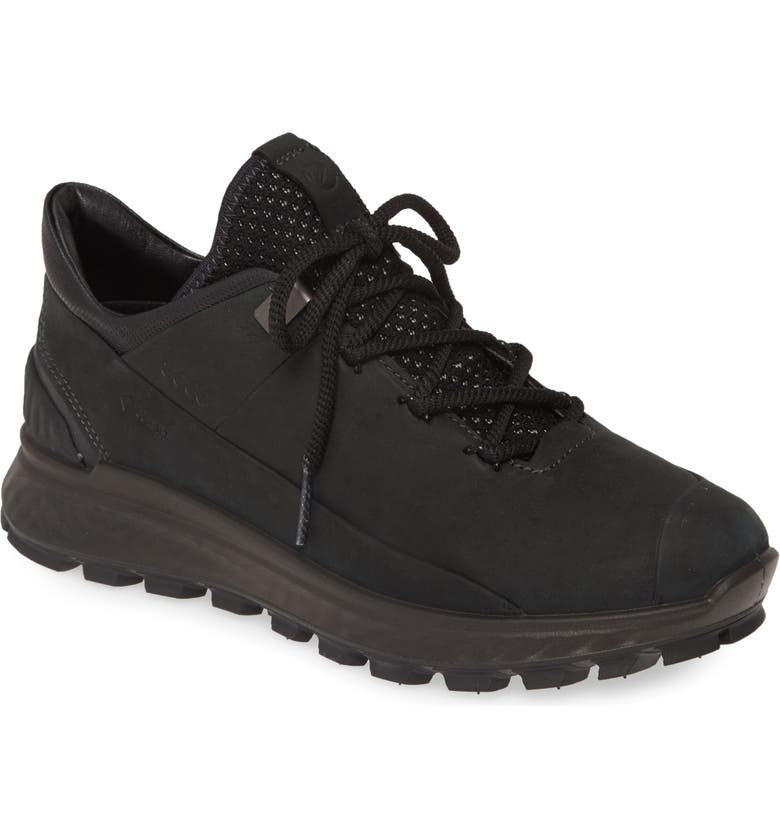 ECCO Exostrike Gore-Tex<sup>®</sup> Sneaker, Main, color, BLACK LEATHER