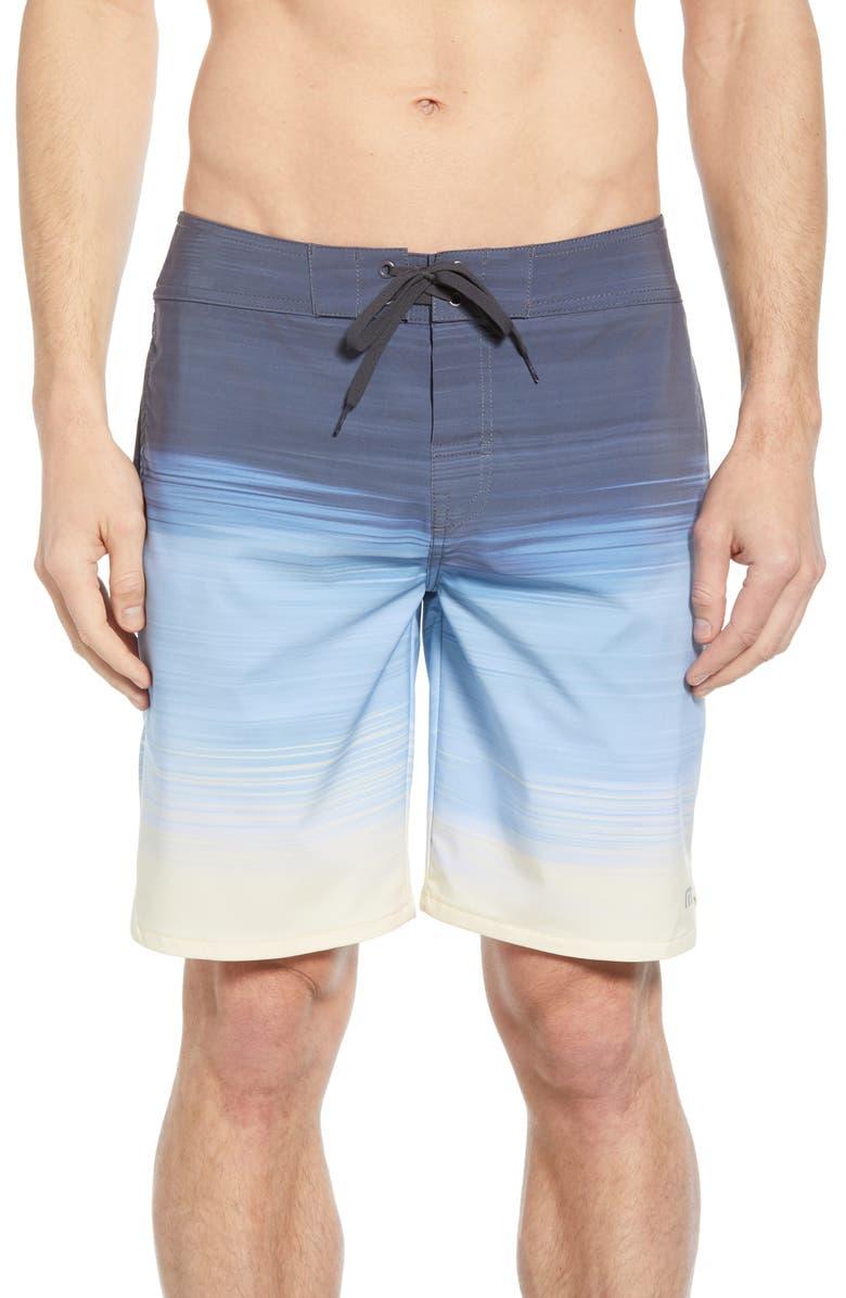 TRAVISMATHEW Nobody Panic Board Shorts, Main, color, HEATHER QUIET SHADE