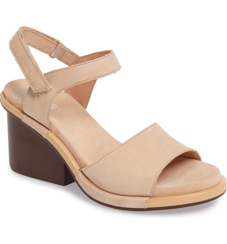 CAMPER Ivy Ankle Strap Sandal, Main, color, BEIGE LEATHER