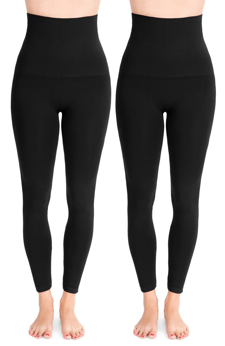 BELLY BANDIT<SUP>®</SUP> 2-Pack Mother Tucker<sup>®</sup> Compression Leggings, Main, color, BLACK