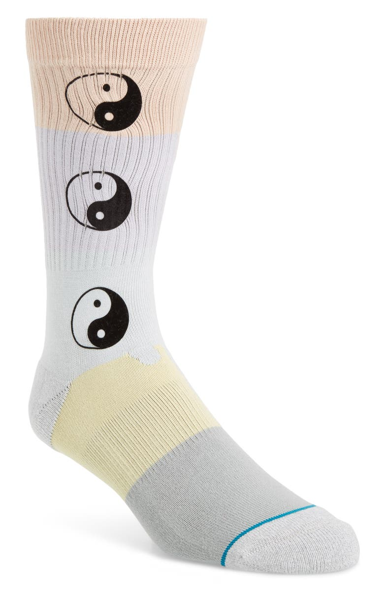 STANCE Yin To My Yang Crew Socks, Main, color, GREY