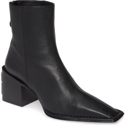 Alexander Wang Parker Logo Heel Boot, Black