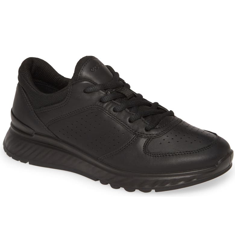 ECCO Exostride Sneaker, Main, color, BLACK LEATHER