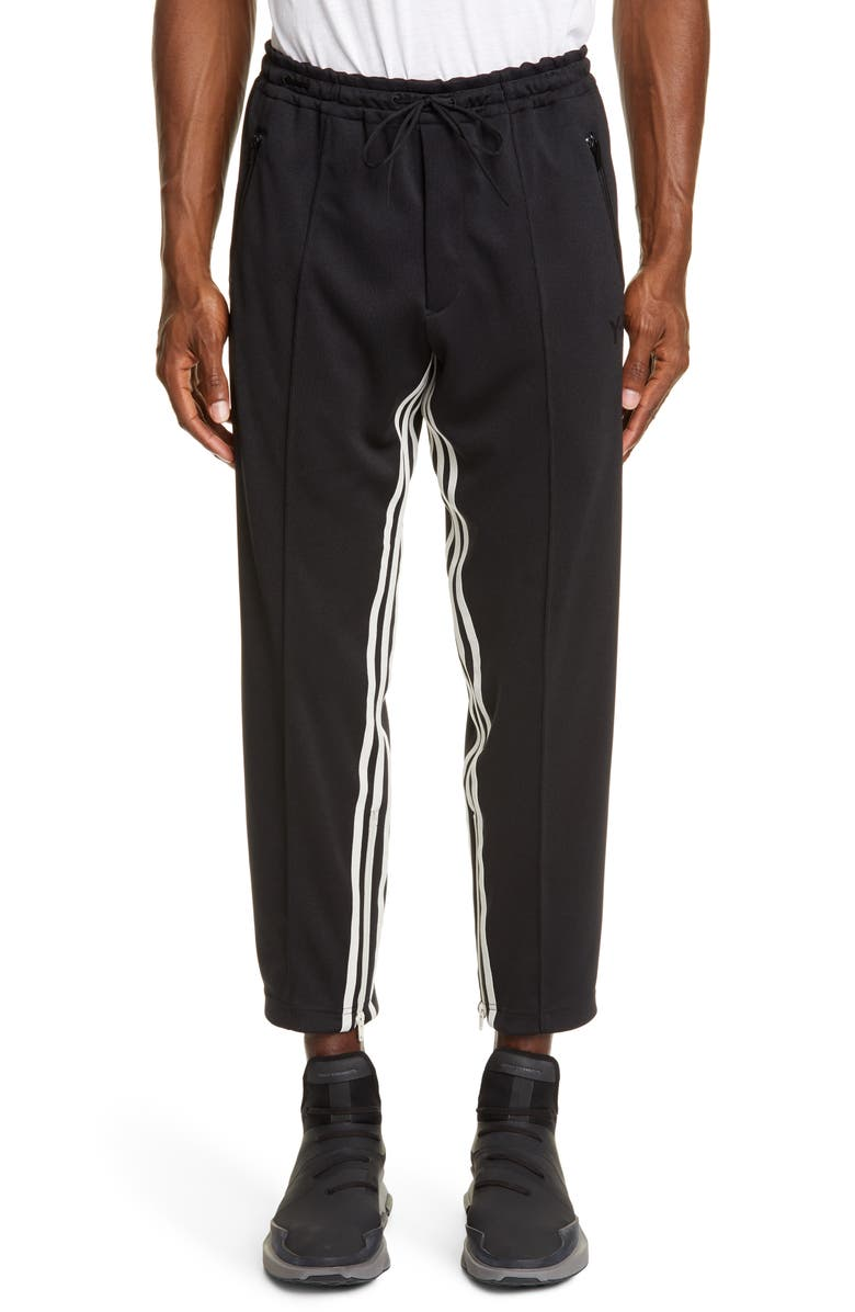 Y-3 M3 STP Crop Track Pants, Main, color, BLACK/ ECRU