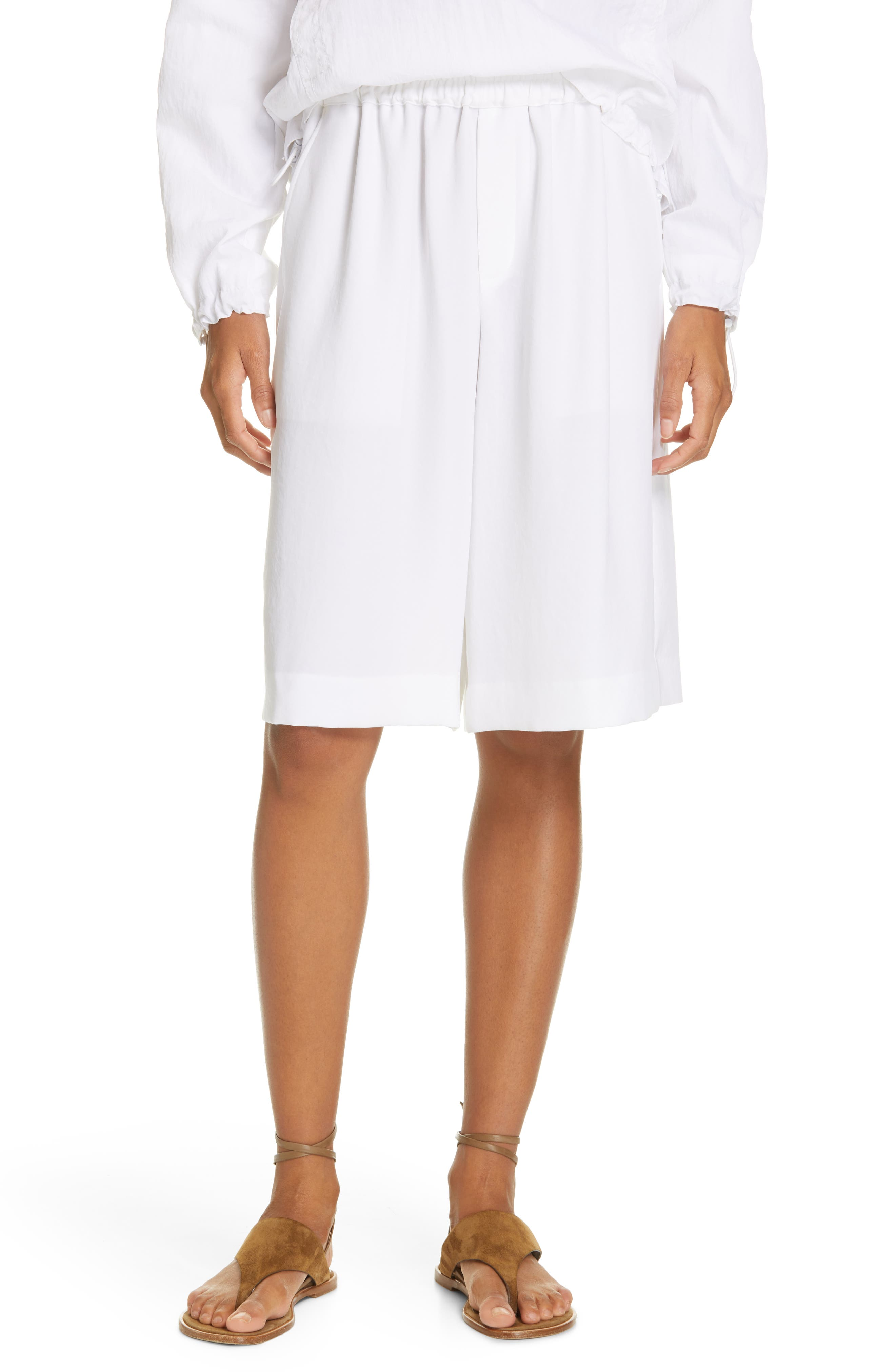 Wide Leg Pull-On Shorts, Main, color, OPTIC WHITE