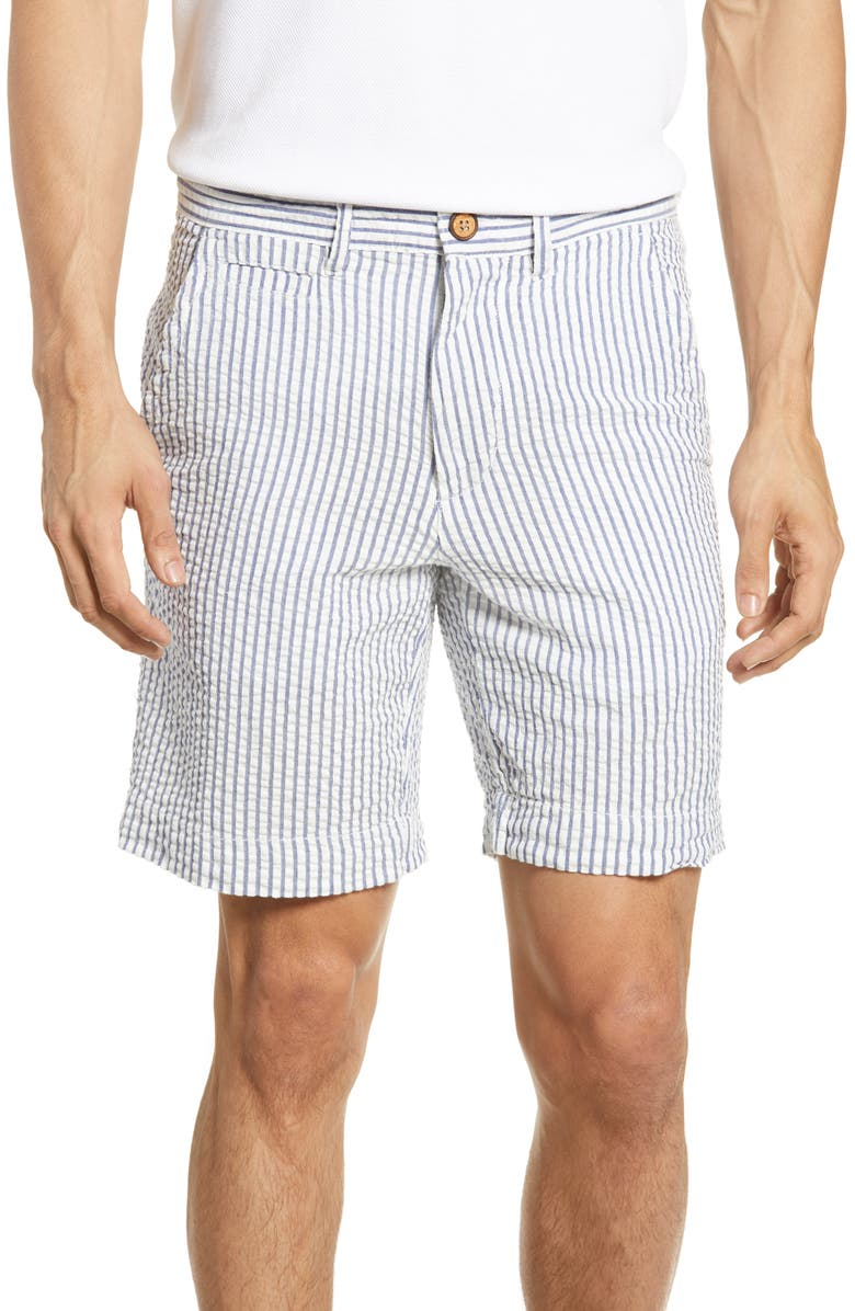 VINTAGE 1946 Stripe Seersucker Shorts, Main, color, 410