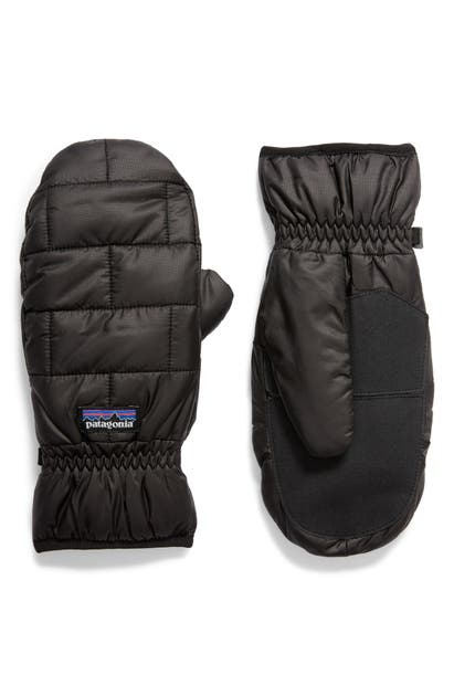 Patagonia Nano Puff Quilted Mittens In Blk Black