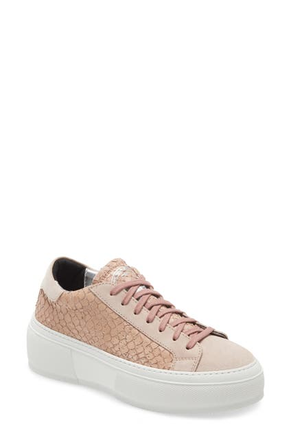 Image of P448 Louise Embossed Leather Platform Sneaker