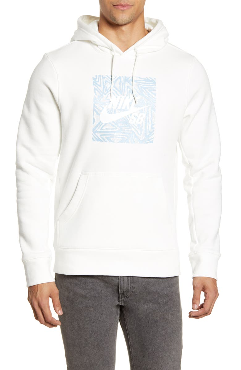 NIKE SB Triangle Graphic Hoodie, Main, color, SAIL/ WHITE