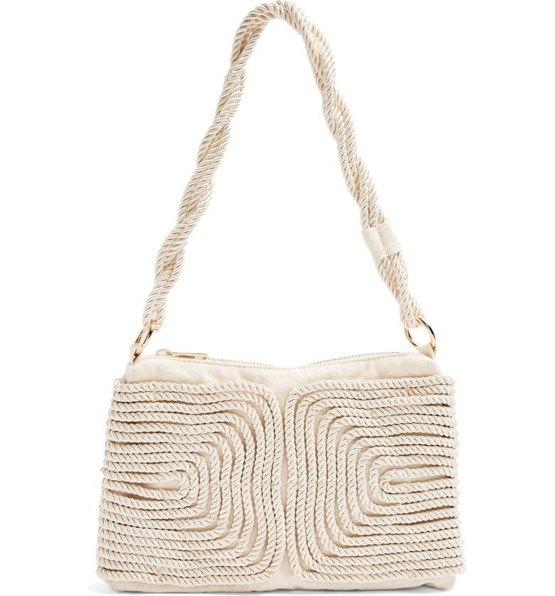 TOPSHOP Riva Rope Shoulder Bag, Main, color, WHITE