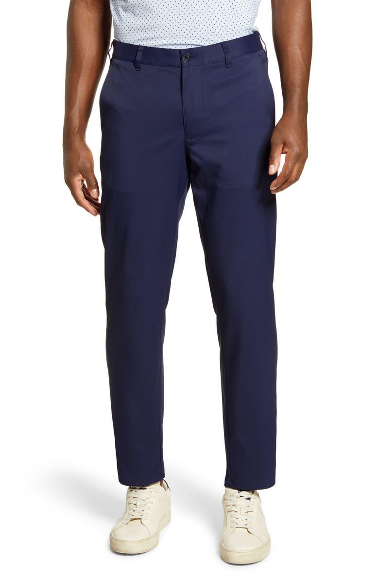 MIZZEN+MAIN Baron Trim Fit Performance Chino Pants, Main, color, NAVY SOLID