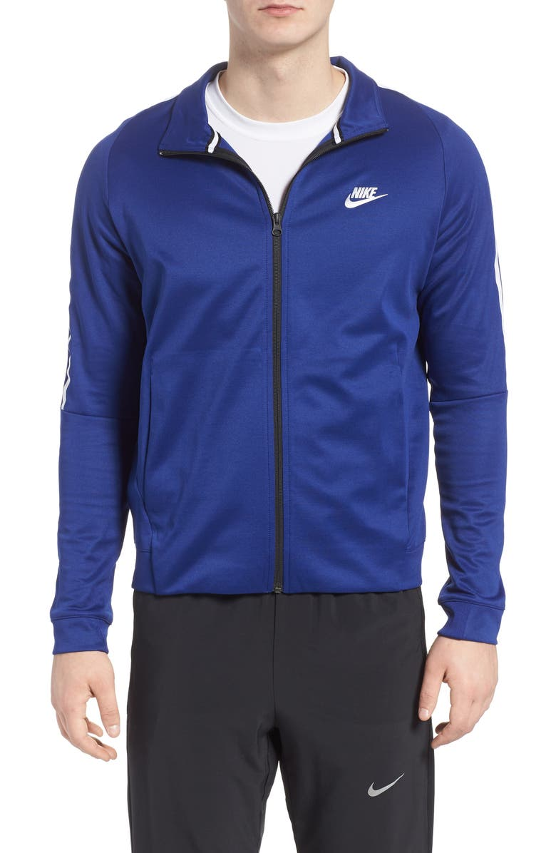 NIKE Sportswear Zip Track Jacket, Main, color, DEEP ROYAL BLUE/ WHITE/ BLACK