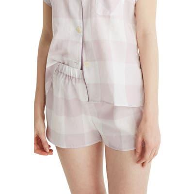 Madewell Lilac Gingham Bedtime Pajama Top, Purple