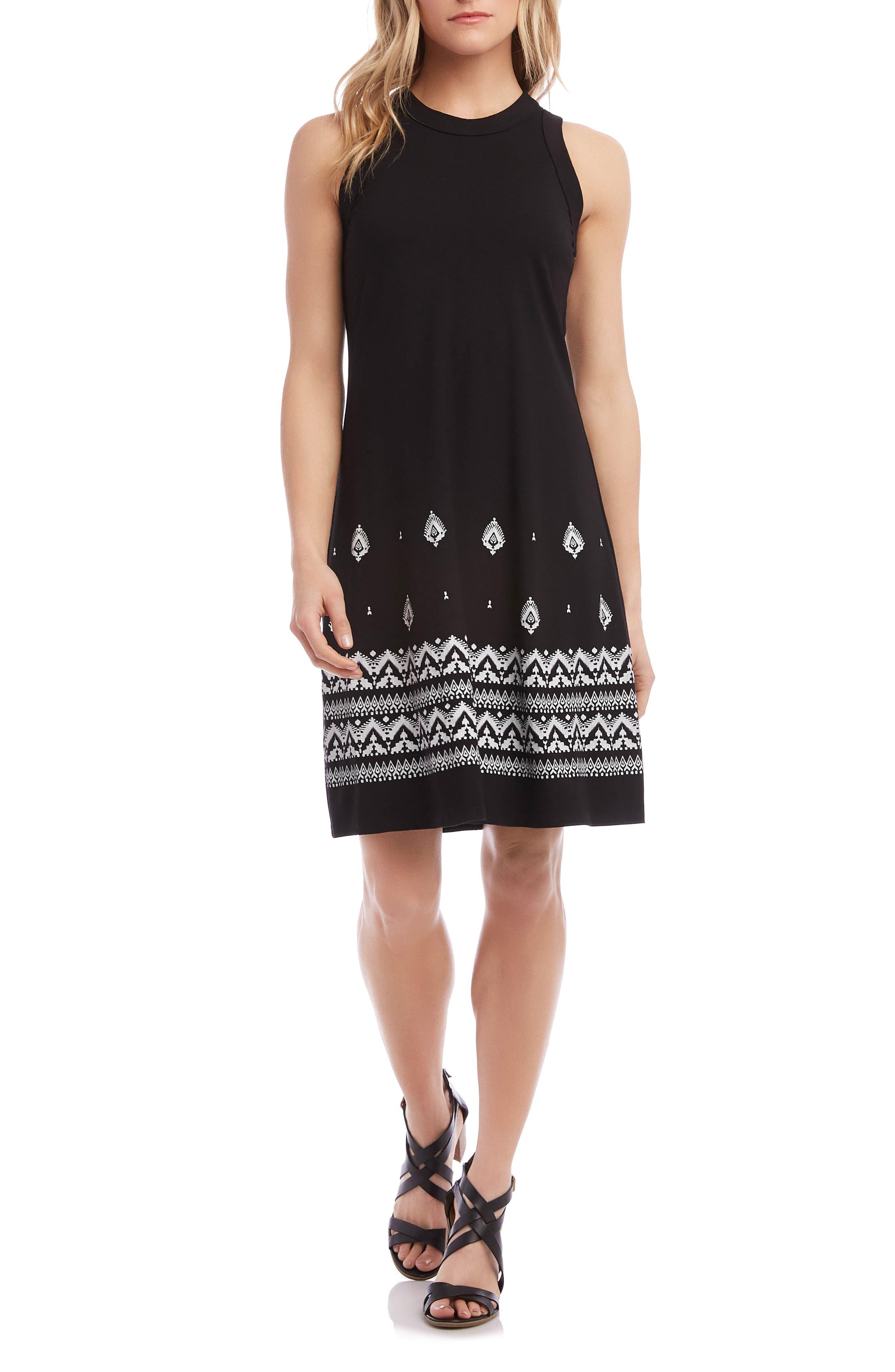 Karen Kane A-Line Dress, Black