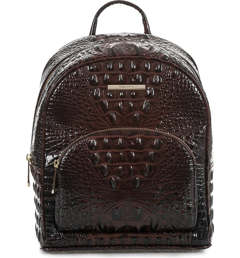 BRAHMIN Mini Dartmouth Leather Backpack, Main, color, 218