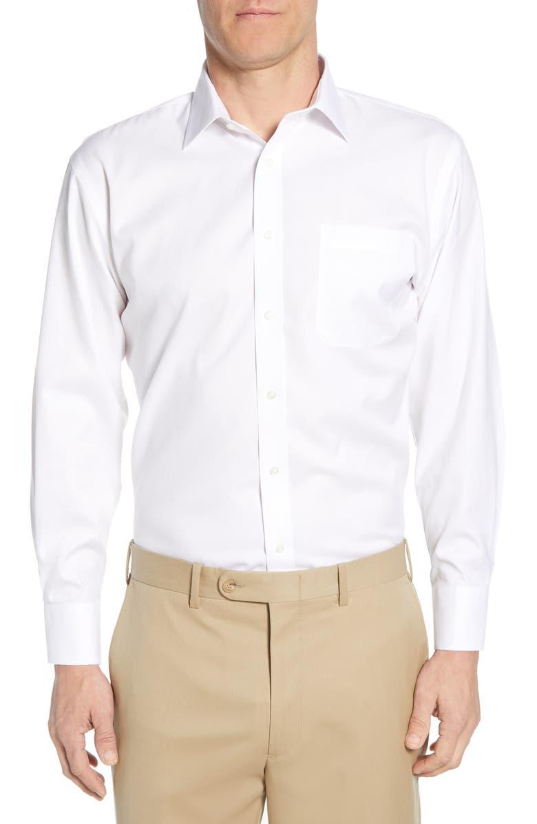 NORDSTROM MEN'S SHOP Smartcare<sup>™</sup> Traditional Fit Dress Shirt, Main, color, WHITE BRILLIANT