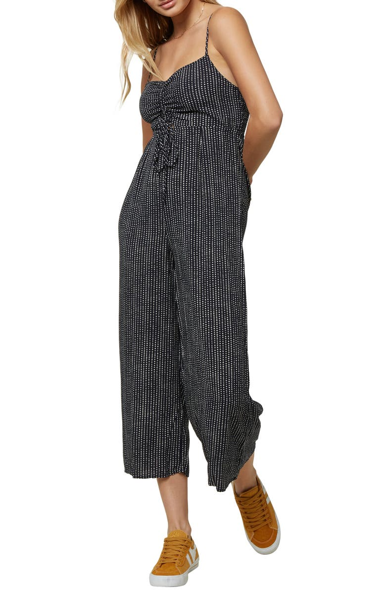 O'NEILL Anabella Dot Print Jumpsuit, Main, color, ABYSS