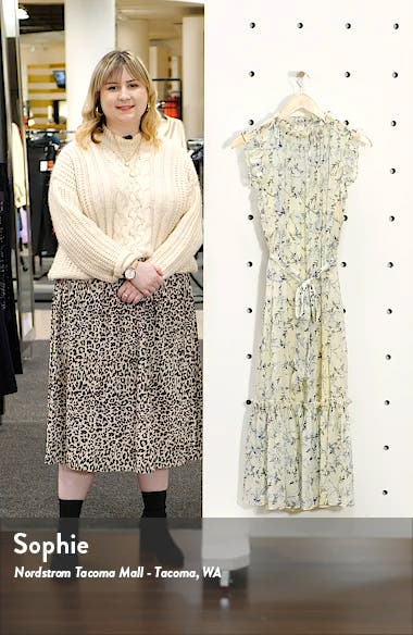 Wisteria Vines Sleeveless Dress, sales video thumbnail