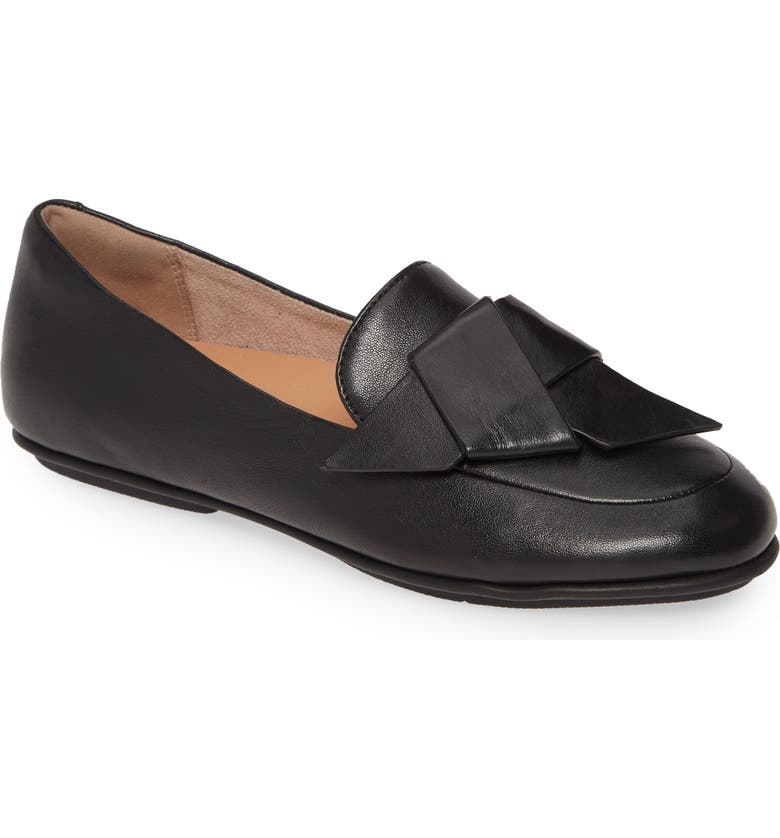FITFLOP Lena Knot Loafer, Main, color, ALL BLACK LEATHER