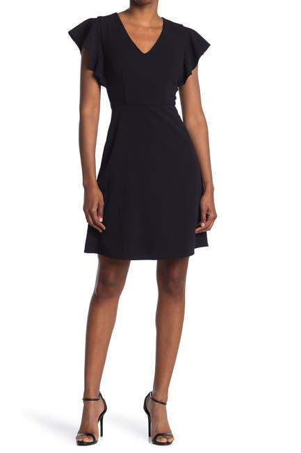 Image of Donna Morgan V-Neck Fit & Flare Mini Dress