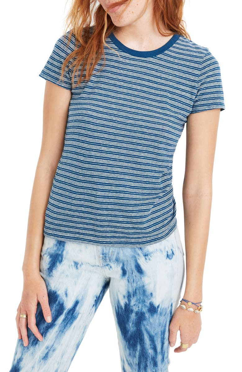 Madewell Fairbury Stripe Lo Fi Shrunken Tee